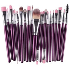 20Pcs Comestic Makeup Brushes Set (Purple&Silver) Philippines