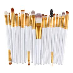 20Pcs Comestic Makeup Brushes Set (White&Gold) Philippines