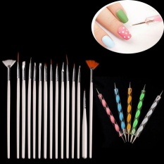 20PCS Nail Art Design Dotting Painting Drawing Polish Brush Pen Tools WH - intl Philippines