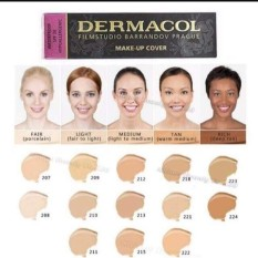 #213 Dermacol Make-Up Cover Foundation Shades. Philippines
