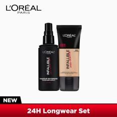 24H Longwear Set: Infallible Pro-Matte Liquid Foundation - 105 Natural Beige [#NeverFail 24HR Longwear] and Infallible Setting Spray 100mL by LOréal Paris [EXCLUSIVE BUNDLE] Philippines