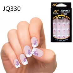 24pcs False Nails French Fake Nails for Nail Art Design Nail Tips JQ330 - intl Philippines