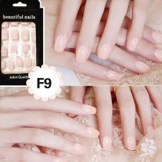24Pcs French Acrylic False Fake Nail Art Fingernail Full Tips intl