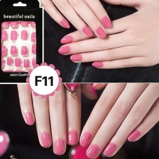 24Pcs French Acrylic False Fake Nail Art Fingernail Full Tips Pink - intl Philippines