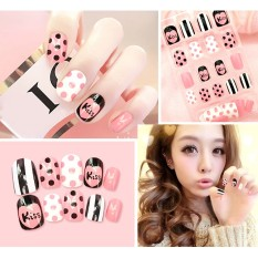 24Pcs Full Cover Art Design Short Size Cute Fingernail Patch False Nail Tips Stickers Kit - intl Philippines