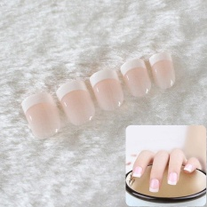 24Pcs Natural French Short False Nails Acrylic Classical Fake Nails With 2g Glue - intl Philippines
