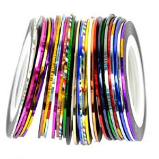 30 Color Rolls Striping Tape Line Nail Sticker Nail DIY Kit Nail Art UV Gel Philippines