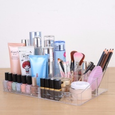 Clear Acrylic Cosmetic Makeup Storage Organizer Box Lipstick Stand