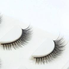Imitation Mink Individual Eyelash Extensions Professional Make Up Source · 3Pairs Long Cross False Eyelashes