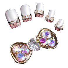 40Pcs DIY Metal 3D Nail Art Tip Decoration Mix Color & Pattern Fashion Luxury Charm Jewelry Tools Bowknot - Intl Philippines