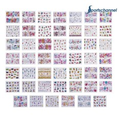 48pcs Colorful Flower Fruit Water Transfer Nail Art Decal Manicure Sticker - intl Philippines