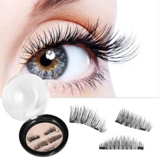 4Pcs Natural Anti-allergic Reusable Magnetic False Eyelashes(#3) - intl Philippines
