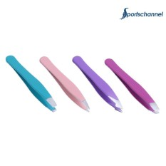 4pcs Professional Metal Slant Tip Hair Removal Eyebrow Tweezer Makeup Tool - intl Philippines