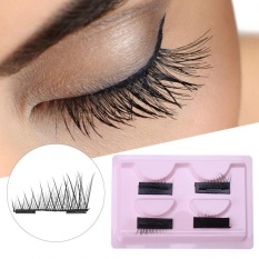 4Pcs Reusable Double Magnetic Eye Lashes Ultra-Thin False Magnet Eyelashes Extension (003) - intl Philippines