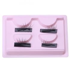 4Pcs Reusable Ultra-Thin Single Magnetic False Eye Lashes (003) - intl Philippines