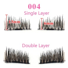 4Pcs/1 Pair Magnetic False Eyelashes 3D Natural Eye Lashes Extension Handmade for Helloween Xmas - 004 - intl Philippines