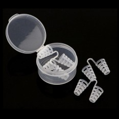5 Pcs Silica Gel Anti Snore Apnea Nose Clip Stop Snore Device with Box Healthy Sleeping