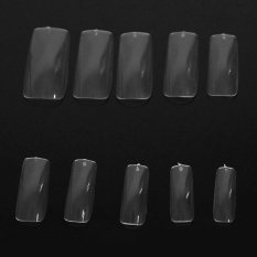 500 Pcs French Style False Acrylic Nail Art Tips Make Up Decorations Clear - intl Philippines