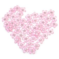 50x Rhinestone Decor Flower Design Pink Nail Art Tips Beauty Manicure Accessory Philippines