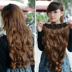 55cm Lady Stylish Long Curl Wavy Hair Extension Wig - intl d5d93d0361
