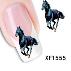 5Sheet Nail Art Sticker Water Transfer Stickers Black Horse Decals Tips Decoration - intl Philippines