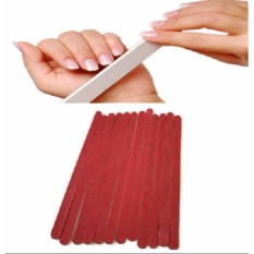 6 Pcs. Red Nail Art File Buffer Styling Sanding Gel Tool Cutter Manicure Accessory 18x1.5cm 9g Philippines