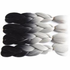 60cm Braiding Synthetic Jumbo Box Braids Black Gray Purple Blue Green Blonde Brown Crochet Hair Extensions