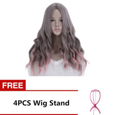65cm Women's Long Wavy Curly Hair Extensions Wig for Masquerade Party Halloween Christmas Cosplay Costume Wigs