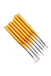 7PCS Design Painting Dotting Pens Brushes (Yellow)