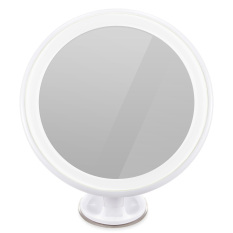 7x Magnifying Makeup Mirror, Oria LED Makeup Mirror (Wall-Mount), LED illuminated Vanity Mirror with Locking Suction cup + 360°Rotating + USB Charge for Makeup, Dressing & Traveling - intl Philippines