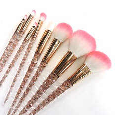 8 PCS Unicorn Brush Makeup Brush Set Nylon Hair Eyebrow Eyeshadow Powder Brush Rose Golden Portable Brushes - intl Philippines