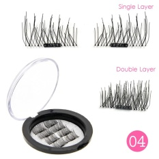 8 Pcs/Set 3D Magnetic False Eyelashes Reusable Natural Eye Lashes Extension Handmade Makeup Newest 04# - intl Philippines