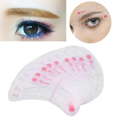 9Pcs/Set Eyebrow Drawing Grooming Stencil Reusable Shaper Guide Template Make Up Shaping Tool - intl Philippines
