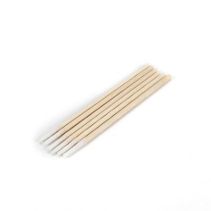 Abacterial Short Wood Handle Medical Dental Tattoo Use 100PCs Cotton Swab Buds - intl Philippines