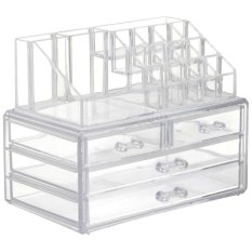 Acrylic Cosmetic Organizer 4 Drawers Drawer Makeup Storage Box Holder Case Philippines
