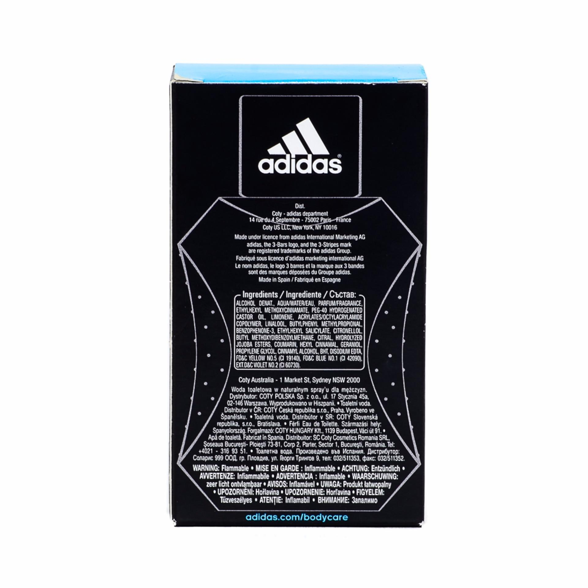 Adidas Eau De Toilette Ice Dive Natural Spray 50ml - thumbnail