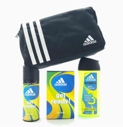 Adidas Get Ready! (Deo Body Spray, EDT Perfume and Body Hair Face Shower Gel) Gift Set For Him