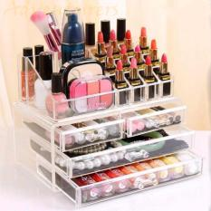 Adventurers Acrylic Makeup Cosmetics Organizer 4 Drawers with Top Section Philippines