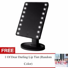 Adventurers  LED Vanity Makeup Mirror with Lights Table Lamp & Cosmetic Mirror (BLACK) r FREE 1 Colour pop Ultra Matte Lipstick (Random Color) Philippines