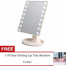 Adventurers LED Vanity Makeup Mirror with Lights Table Lamp & Cosmetic Mirror (WHITE) r FREE 1 Colour pop Ultra Matte Lipstick (Random Color) Philippines