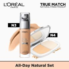 All Day Natural Set: True Match Liquid Foundation N3 & Powder N4 by LOréal Paris Philippines