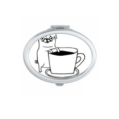 Animal Protector Pet Lover Pet Slave Comic Style Cartoon Coffee Dog Creative Pattern Oval Compact Makeup Pocket Mirror Portable Cute Small Hand Mirrors - intl Philippines