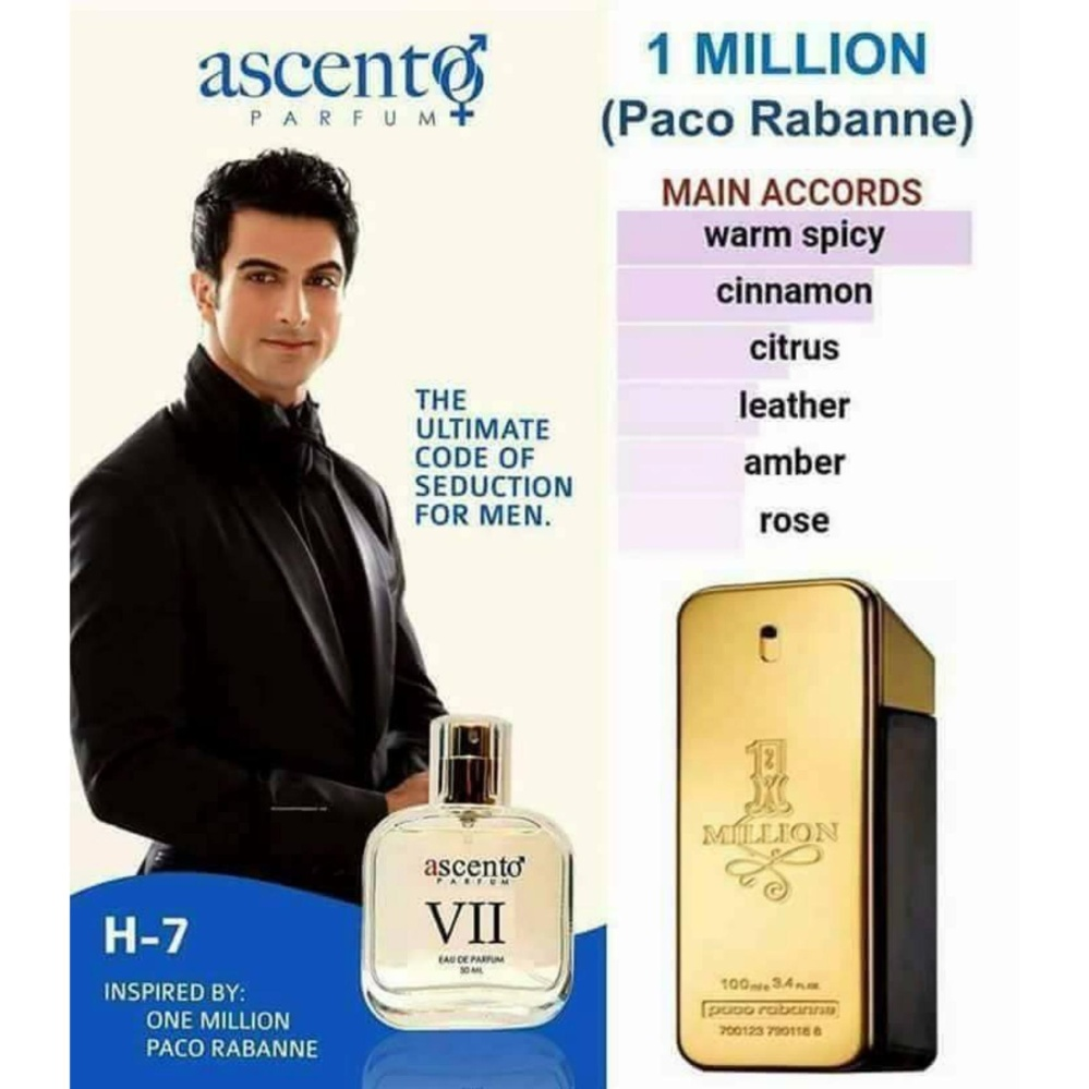 Ascento Parfum - 1Million Pacco Rabane H-7 product preview, discount at cheapest price