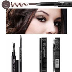 Aukey newstyle Professional Double Headed With Brush Automatic Rotating Eyebrow Pencil - intl Philippines