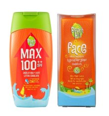 Beach Hut Max Spf100++ Sunblock 100ml And Beach Hut Face Spf 65 75ml By Dragon Edge Group.