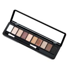 BEST SELLER Sunweb Mini Portable 10 Colors Eyeshadow Makeup Cosmetic Shimmer Nature Eye Shadow Palette with Eyeshadow Sponge - intl Philippines