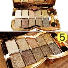 Bestprice-10 Colors Eyeshadow Palette Eyeshadow Glitter Shimmering Brush Girls Cosmetic - intl Philippines