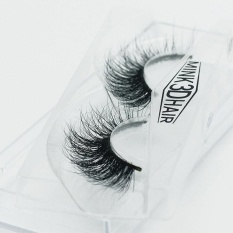 Bestprice-1Pair 3D Real Mink Hair Soft Long Thick Makeup Lashes False Eyelashes Y-27/Y-30 - intl Philippines
