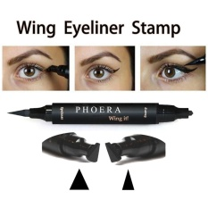 Bestprice-2Pcs 2 in 1 Dual Ended Eyeliner Stamp Liquid Eye Liner Pen Beauty Comestic - intl Philippines