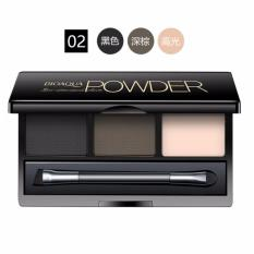 Bioaqua BQY7489-2 Three-Dimensional Natural Three-Color Eyebrow Powder 6g (#02 Black,Dark Brown,Light Skin) Philippines